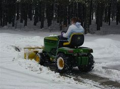 How to turn your Lawn Tractor into a Snow Plow