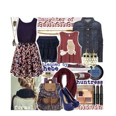 Daughter of Athena, blessed by Hebe, huntress of Artemis: formal by am-i-not-fictional on Polyvore featuring True Religion, Vero Moda, Vans, Sakroots, City x City, tarte, Bobbi Brown Cosmetics, MAKE UP FOR EVER and Kaiser