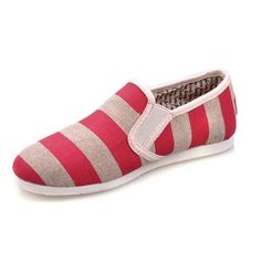 TOMS CLASSIC WOMEN SHOES RED STREAKS OF GREY