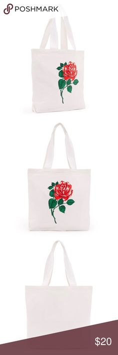 Ban.do Canvas Rose Tote Bag NWT Great size and structure to this eye catching tote! In bag, NWT! ban.do Bags Totes