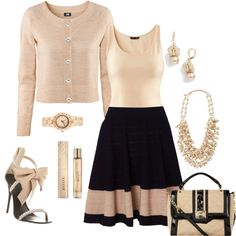 Pretty black and neutrals. Really love the shoes!