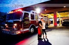 Future firefighter wife. #engagementphoto #firefighterengagement