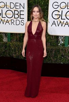 Olivia Wilde in a Michael Kors Collection dress and Bulgari jewelry–and 13 other best dressed celebrities at the Golden Globes