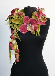 Felt fairy flower scarf