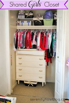 Serenity Now: Organizing a Shared Girls' Closet (Real Life Organizing)