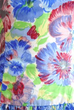 Bright Green, Pale Yellow, Pale Blue, Royal Blue, Strawberry Red, Dusty Pink, Grey...Vintage 1960s