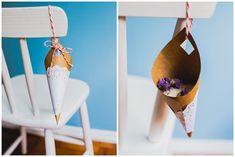 {DIY} Faça você mesma os cones de chuva de arroz para casamento