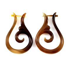 Marcela Earrings. organic bullhorn.