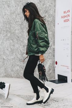 cool Street Style MFW I by http://www.redfashiontrends.us/milan-fashion-weeks/street-style-mfw-i-2/