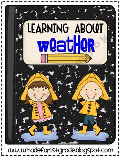 This notebook is a good starter for first grade students. It gets students' attentions and makes them really understand the topic of weather before starting the unit.