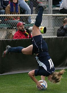 Do a Flip Throw in in Soccer. The most surprising thing that could happen while playing another team.