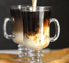 Get your caffeine fix with this sweet and creamy, Healthy Vietnamese Iced Coffee recipe made refined sugar free, fat free, high protein, and gluten free! No need for the sugary condensed milk calorie-bomb when you've got THIS magic in a cup! Healthy Dessert Recipes at Desserts with Benefits