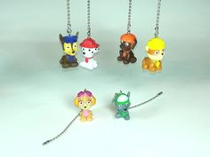 Paw Patrol Ceiling Fan Pull - Light Pull Chain, Kids Room Decor, Paw Patrol Decor, Gift for Boys, Gift for Girls, by WoodenAndroydStudio on Etsy