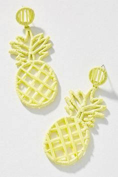 In face earrings might have reigned supreme, but in fruit jewelry is among the hottest accessory trends around. Mini Hoop Earrings, Drop Earrings, Statement Earrings, Pineapple Gifts, Pineapple Under The Sea, Pineapple Earrings, Fashion Jewelry, Women Jewelry, Accessories
