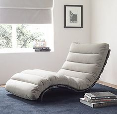 RH TEEN's Oviedo Low Floor Lounger:Bridging midcentury and industrial design, our chaise