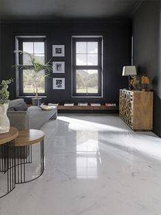 Ceramic Tile Design - Porcelanosa Marble Look / Marble Travertine