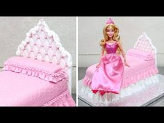 a1aed023e7c38d How To Make A Princess Doll Bed Cake by CakesStepbyStep