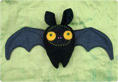 Halloween Bat Plushie by Gleeful Things, via Flickr