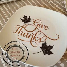 Free 'Give Thanks' Silhouette Studio Cut File (Freebie Friday)