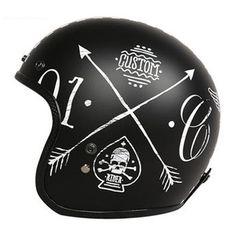Motorcycle Helmet Design, Cafe Racer Helmet, Half Helmets, Open Face Helmets, Motorcycle Gear, Motorcycle Helmets, Bicycle Helmet, Riding Helmets, Vintage Helmet