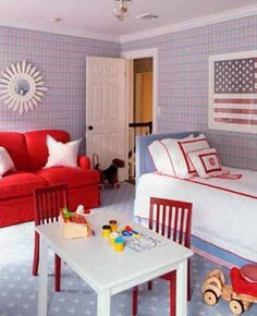 Patriotic Room Decor Love The Red White And Blue Boy Rooms