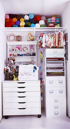 Closet Storage Space for the Craft Room