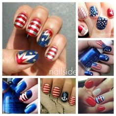 Show Your True Colors: Fourth of July Nails. As we gear up to celebrate Independence Day this week, wear your true colors on your fingernails with a fabulous set of patriotic red, white, and blue nails!