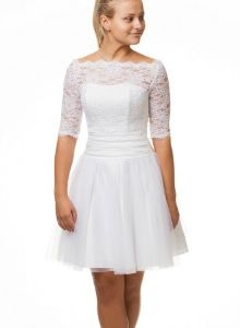 Konfirmationskjoler , Stort udvalg af konfirmationskjoler 2015 Confirmation Dresses, Lace Dress, White Dress, Formal Dresses, Wedding Dresses, New Outfits, Women's Fashion, Couture, Heart