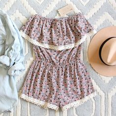 Honey Clover Romper, Sweet Lace Rompers from Spool No.72.   Spool No.72