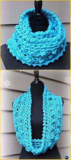 Crochet Wonderful Winter Infinity Scarf Free Pattern - Crochet Infinity Scarf Free Patterns