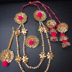 Upgrade Your Mehendi Jewellery With Gota Hand Jewelry, Fabric Jewelry, Handmade Jewelry, Ethnic Jewelry, Indian Jewelry, Flower Jewellery For Mehndi, Flower Jewelry, Gota Patti Jewellery, Decorated Gift Bags