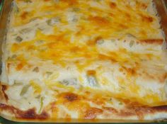 White Chicken Enchiladas (low cal version) Recipe | Just A Pinch Recipes