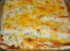 White Chicken Enchiladas (low cal version) Recipe | Just A Pinch Recipes