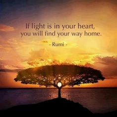 If light is in your heart, you will find your way home.  Molavi (a. k. a. Rumi)