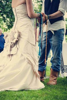 A traditional hand-fasting.