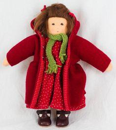 Nanchen Puppe - Rotkäppchen - Bio Baumwolle