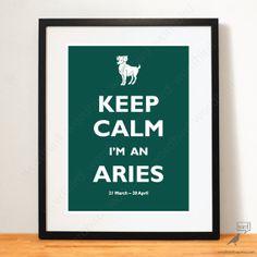 Zodiac Aries Gift 8x10 Forest Green  astrological by WordBirdShop, $12.75