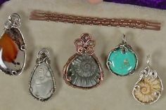 Basketweave wire bezel designs by Janice Berkebile - from Bezel Alternatives: 4 Ways to Set Stones (and Shells, Beads, and More) in Wire with Janice Berkebile - Jewelry Making Daily