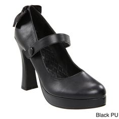 @Overstock - Ellie Women's '425-Glenda' Black Chunky Heel Mary Jane Pumps - Add this comfy pair of chunky heel pumps to your collection. These go-to heels from Ellie feature Mary Jane straps and cute bows at the back of each pump.  http://www.overstock.com/Clothing-Shoes/Ellie-Womens-425-Glenda-Black-Chunky-Heel-Mary-Jane-Pumps/8561193/product.html?CID=214117 AUD              78.85