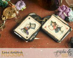 Magic Cover Book Box and mini album by Lena Astafeva #graphic45 #halloweeninwonderland #album #box