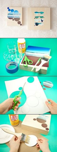 DIY Wall Art - Would look adorable in any beach bedroom!