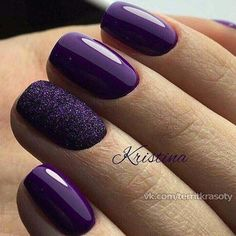 60 Trendy Ideas For Purple Nail Art Designs You Must Try - fashonails How to apply nail polish? Nail polish on your friend's nails looks perfect, however y Nail Art Violet, Purple Nail Art, Purple Nail Designs, Cute Nail Art Designs, Acrylic Nail Designs, Purple Gel Nails, Gold Nails, Purple Makeup, Purple Wedding Nails