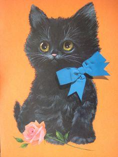 Ebony Kitty with Bow