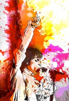 """""""Splash of Prince"""" art poster print by Danny Hahlbohm depicting Prince Rogers Nelson. Tribute"""