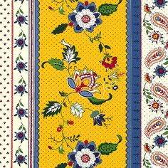 eQuilter A' La Carte - Provencal Paisley Stripe - Daffodil Yellow