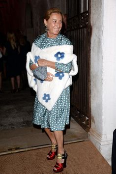 Miuccia Prada attends the Dinner At Fondazione Cini…