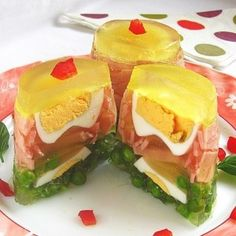 aspic recipe - serving suggestion so your guests will see every scrap of ejectamenta you threw in there Jello Recipes, Egg Recipes, Cooking Recipes, Spam Recipes, Gross Food, Weird Food, Scary Food, Ham And Eggs, Darwin Awards