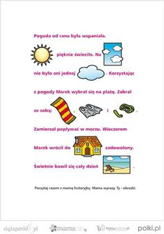 Learn Polish, Infant Activities, Education, Learning, Speech Language Therapy, Toddler Chores, Studying, Baby Activities, Teaching