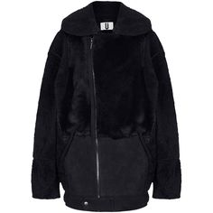 **Oversized Bomber Jacket by Unique ($1,200) ❤ liked on Polyvore featuring outerwear, jackets, black, bomber style jacket, bomber jacket, oversized bomber jackets, unique jackets and blouson jacket