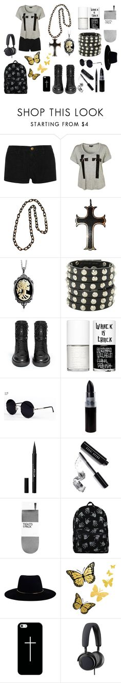 """Cross your heart- FREAKY FRIDAY"" by xxhappyxx ❤ liked on Polyvore featuring Current/Elliott, Couture by Lolita, Hot Topic, Ash, Uslu Airlines, Una-Home, Stila, Bobbi Brown Cosmetics, H&M and Zimmermann"